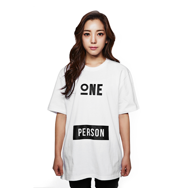 ONE PERSON T-SHIRTS WHITE