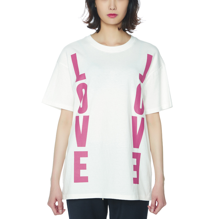LOVE LOVE T-SHIRTS [WHITE]