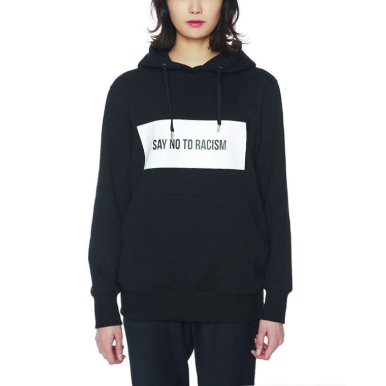 SAY NO TO RACISM HOODIE [BLACK]