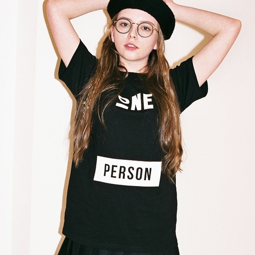 """All size restock"" ONEPERSON T-SHIRTS[BLACK]"