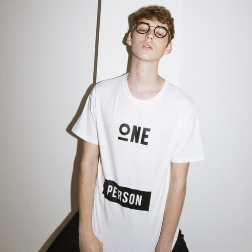 """All size restock""ONEPERSON T-SHIRTS[WHITE]"