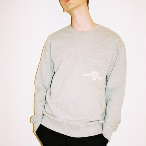 POCKET LOOSEFITSWEATSHIRTS[GRAY]