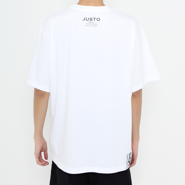 JUSTO POCKET OVER T-SHIRTS[WHITE]