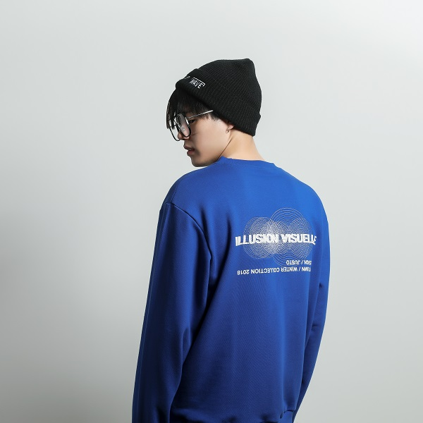 illusion sweat shirt[blue]