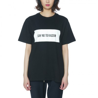 ANTIRACISM PAPER T-SHIRTS [BLACK]