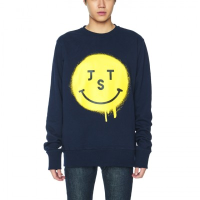 JUSTO SMILE SWEATSHIRTS [NAVY]