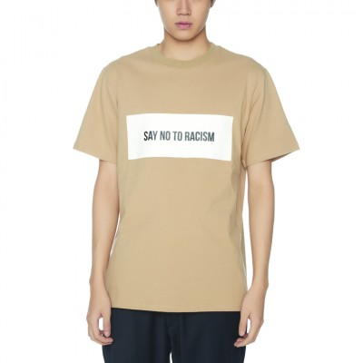 ANTIRACISM PAPER T-SHIRTS [BEIGE]
