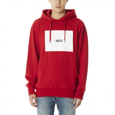 JUSTO LOGO HOODIE [RED]