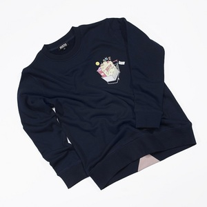 JUSTO CART SWEATSHIRTS NAVY