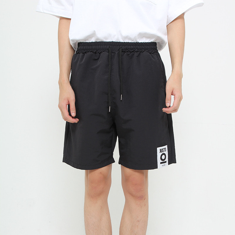 JUSTO POCKETPRINT HALFPANTS[BLACK]