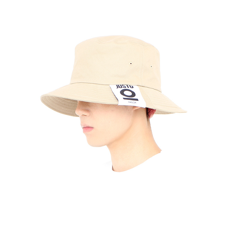 JUSTO LABEL BUCKET HAT[BEIGE]